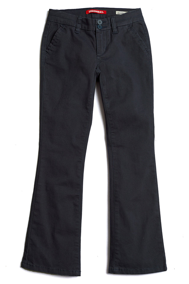 Black Hayden Trouser Pant for Girls - Front View