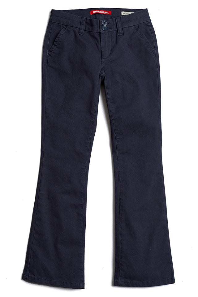 Dark Blue Hayden Trouser Pant for Girls - Front View