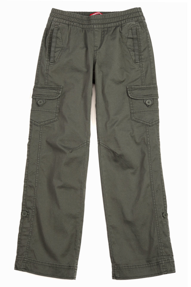 Green Lilah Convertible Pant for Girls - Front View
