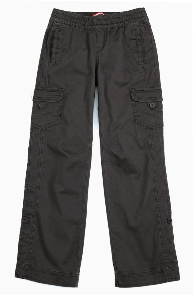 Grey Lilah Convertible Pant for Girls - Front View