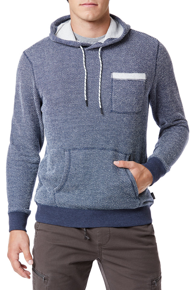 Blue Kangaroo Pocket Hoodies for Men - Front View