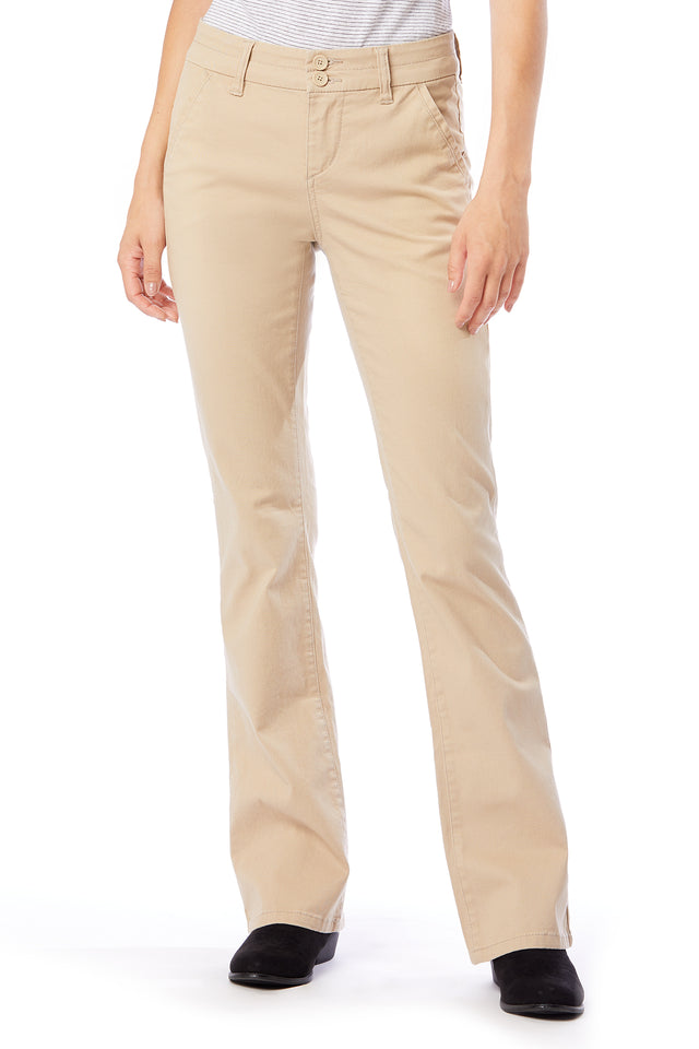 Hayden Bootcut Uniform Pants for Women - Beige