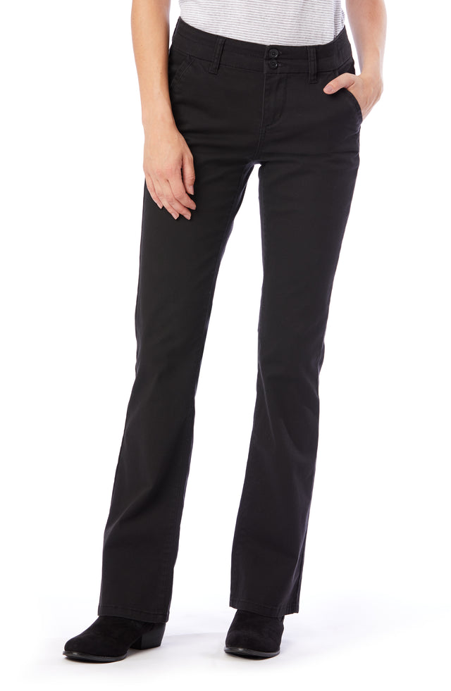 Hayden Bootcut Uniform Pants for Women - Black