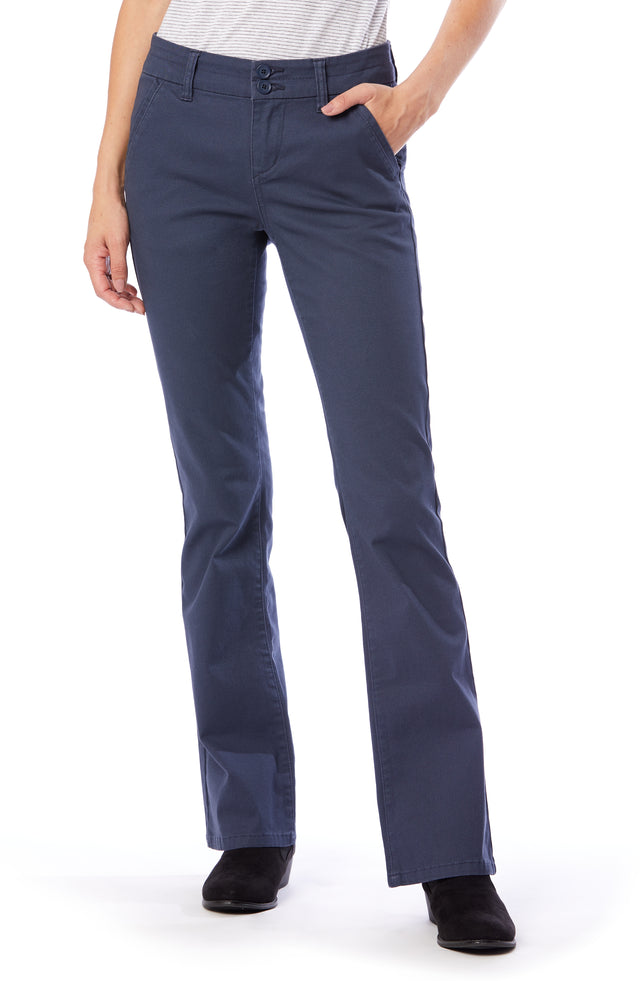 Hayden Bootcut Uniform Pants for Women - Indigo