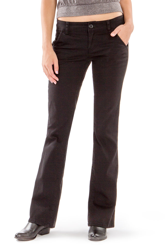 Heather Uniform Pants for Juniors, Black