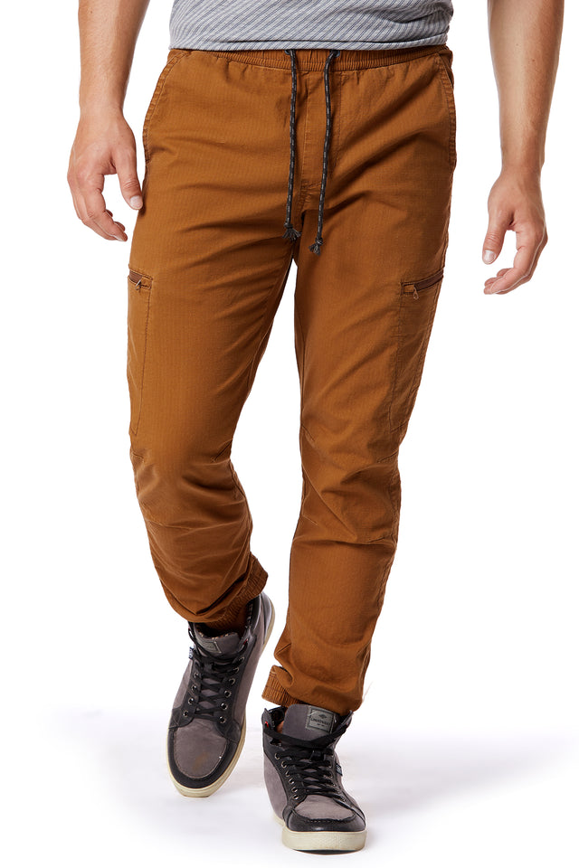 Maple Ripstop Jogger Pants for Men - Front View