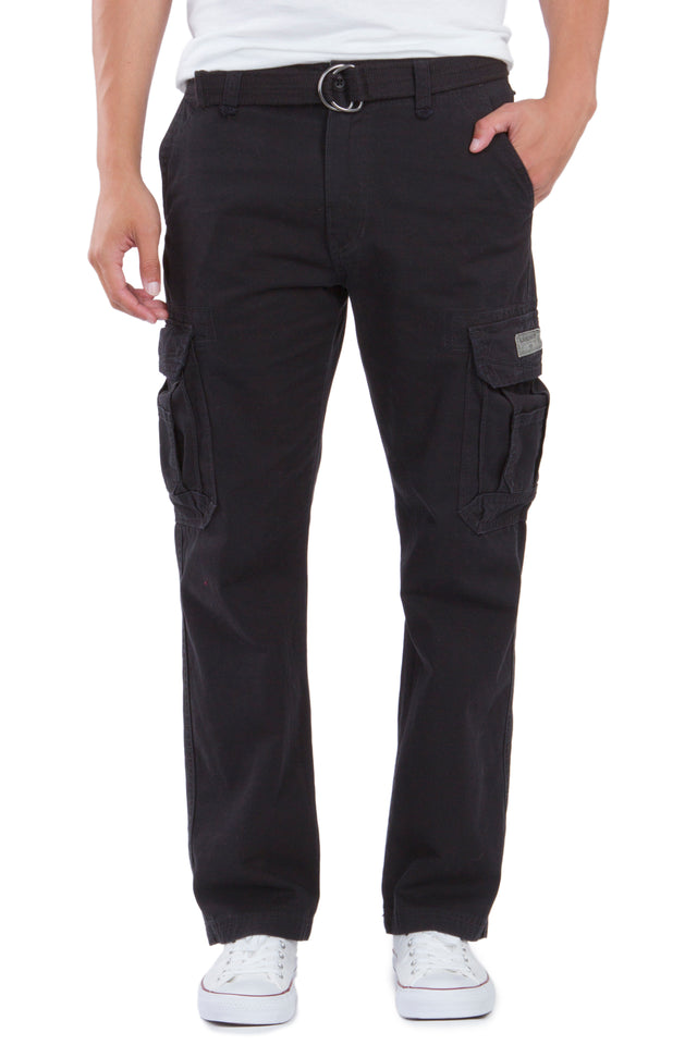Survivor Cargo Pants for Men, Black