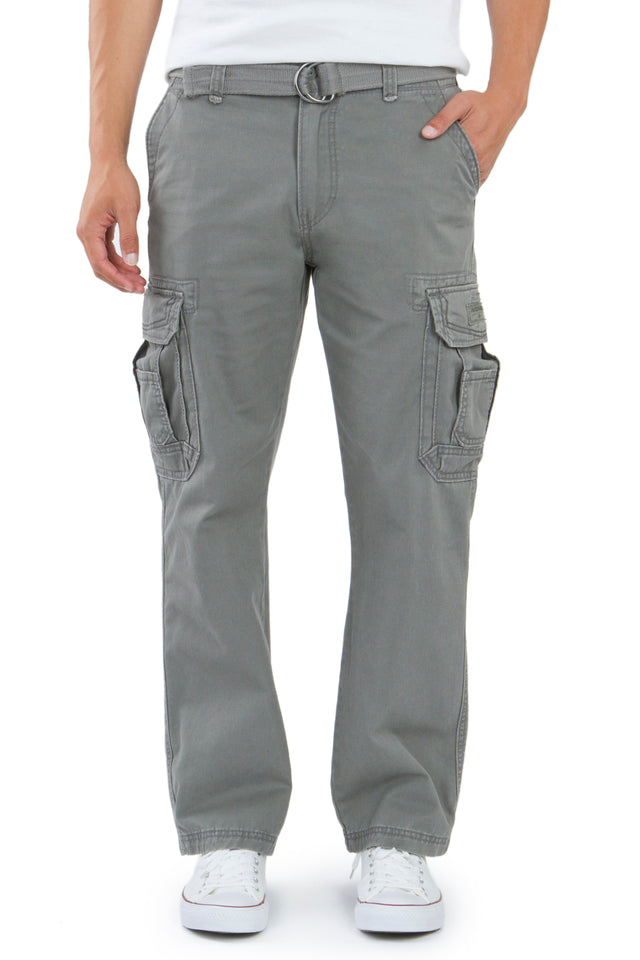 Survivor Cargo Pants for Men, Grey Goose