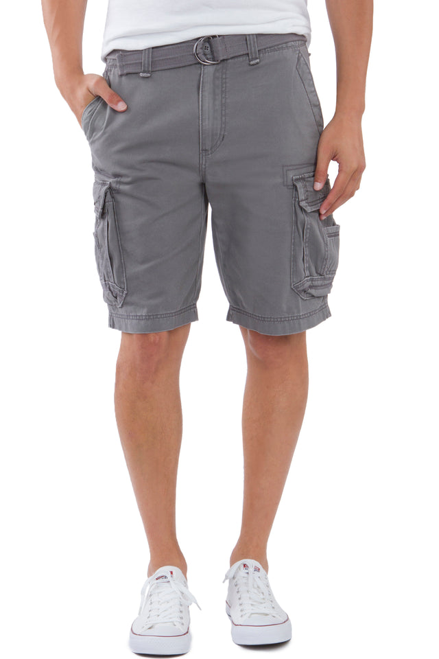 Survivor Cargo Shorts for Men, Grey Goose