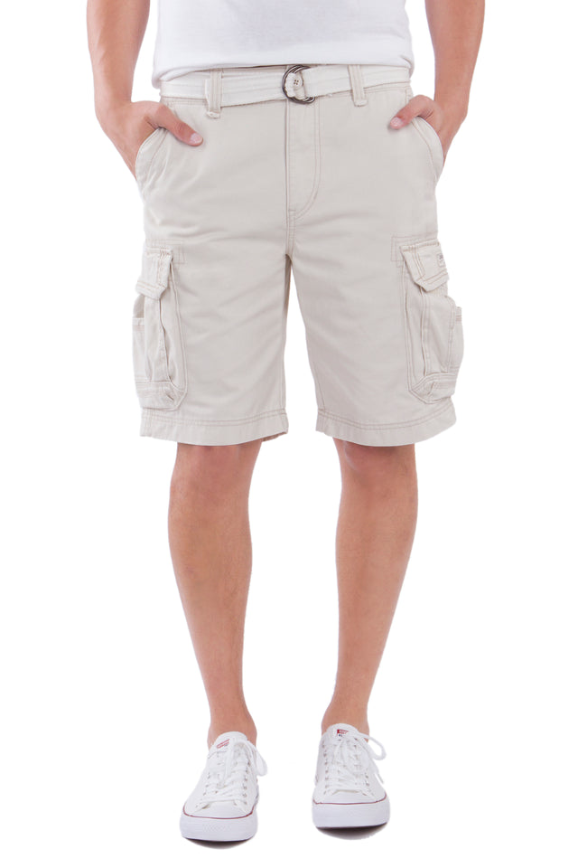 Survivor Cargo Shorts for Men, Stone
