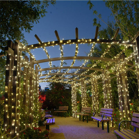 Solar Powered Pergola Lights