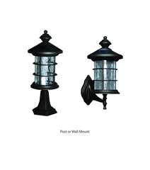 Wall or Pole Mount Solar Patio Lights in Hampton Style Dusk to Dawn Light Mode