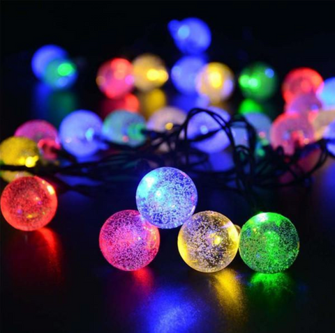 Outdoor Solar Powered Christmas String Lights