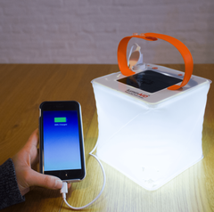 Inflatable Solar Light for Camping and charging cellular devices