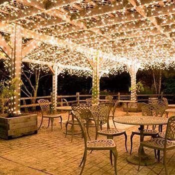 LED Solar Powered String Lights For Holiday Christmas Weddings Patio Party Outdoor Fence Gate Home Use