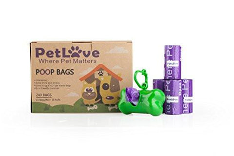 Biodegradable Scented Dog Waste Bags 240 Count