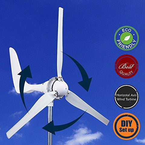 WINDMILL 1500W 24V 60A Wind Turbine Generator kit. MPPT charge controller included + automatic and manual breaking system & Amp meter. DIY installation. - Solar Us Shop