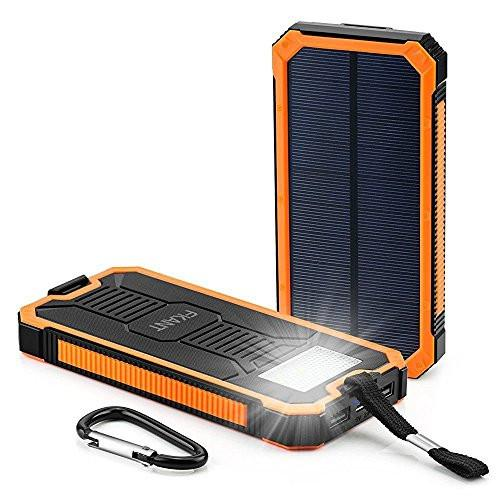 Portable Solar Charger Power Bank & Flashlight