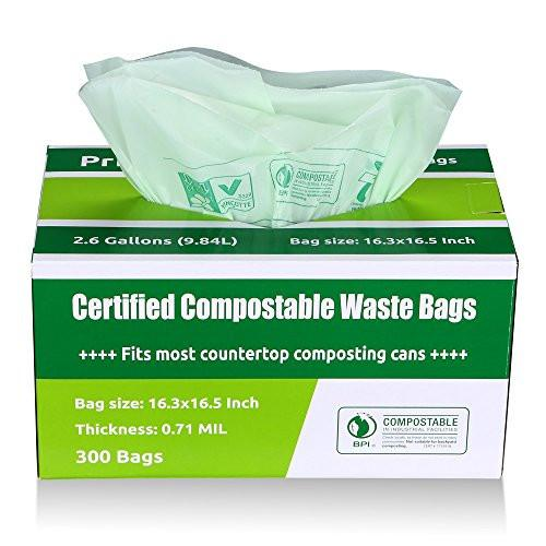 Compostable and Biodegradable Bags For Food Waste 100 Count