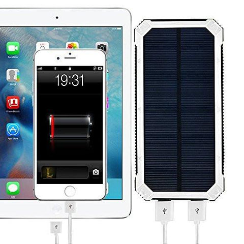 Portable Solar Charger Power Bank & Flashlight - Solar Us Shop