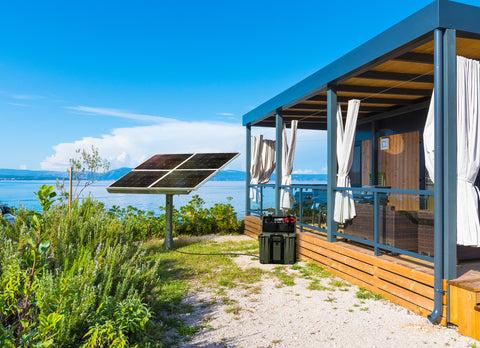Nature Power Solar Power Kit - Solar Panels installed on a beach house location