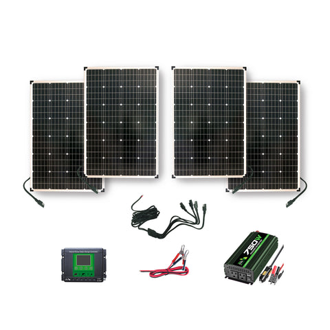 Nature Power Solar Power Kit 440 Watts - 4 Solar Panels and parts included