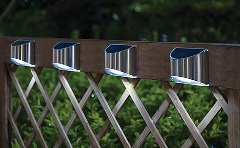 Classy Caps Stainless Steel Deck & Wall Mounted Solar Lights