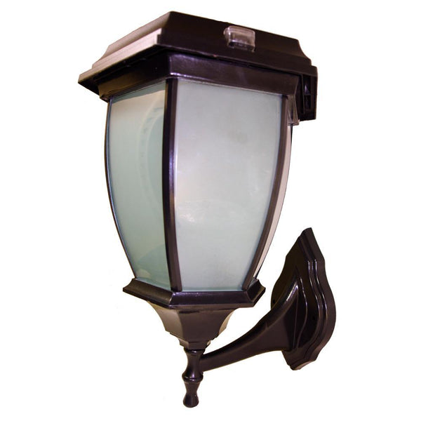 Mountable Flickering Flame Solar Coach Lamp Light