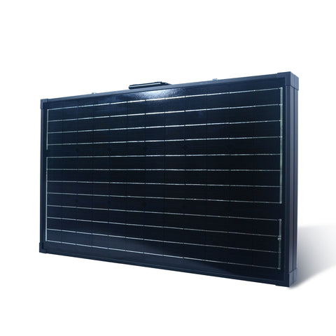 Folded Nature Power 120 Watt Monocrystalline Suitcase Solar Panel Angle