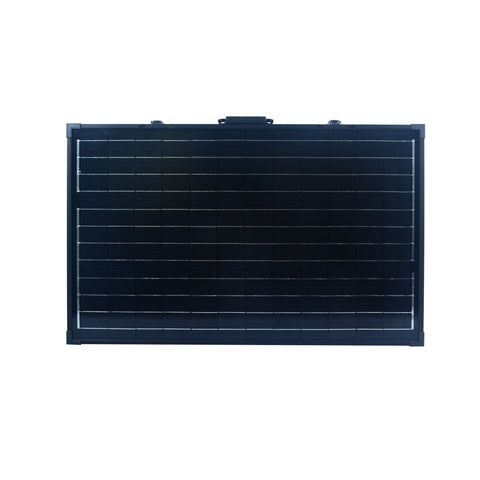 Folded Nature Power 120 Watt Monocrystalline Suitcase Solar Panel Front