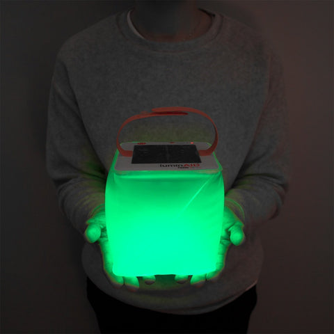LuminAID PackLite Spectra USB Inflatable Color-Changing Solar Lantern Flashlight - Solar Us Shop
