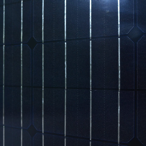 Monocrystalline Cells Solar Panel close up