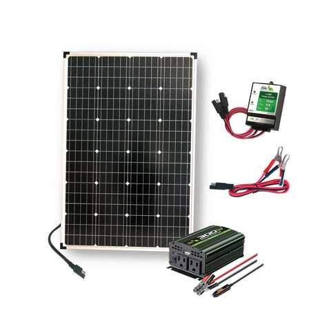 Nature Power 110 Watt Solar Panels with Power Inverter and Charge Controller plus accessories