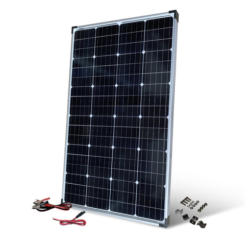 Nature Power 110 Watt Solar Panel with mounting accessories