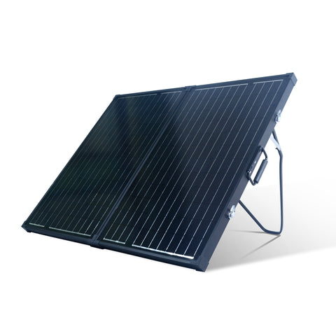 Nature Power 120 Watt Monocrystalline Suitcase Solar Panel angled front