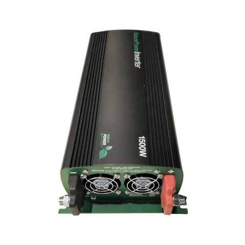 Nature Power 12V 1500W Modified Sine Wave Power Inverter for Solar Panels Back DC Connectors