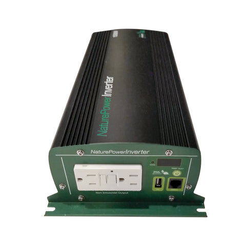 Nature Power 12V 1500W Modified Sine Wave Power Inverter for Solar Panels back with AC outlets and USB port