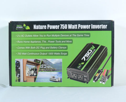 Nature Power 12V 750W Portable Power packaging front with features
