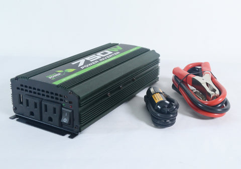 Nature Power 12V 750W Portable Power side view DC connectors