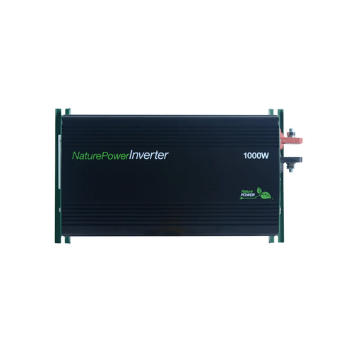 Nature Power 12V, 1000W Modified Sine Wave Inverter for Solar Panels Front view