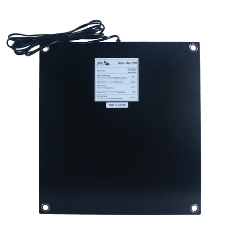 Nature Power 15W SemiFlex Monocrystalline Solar Panel back specifications