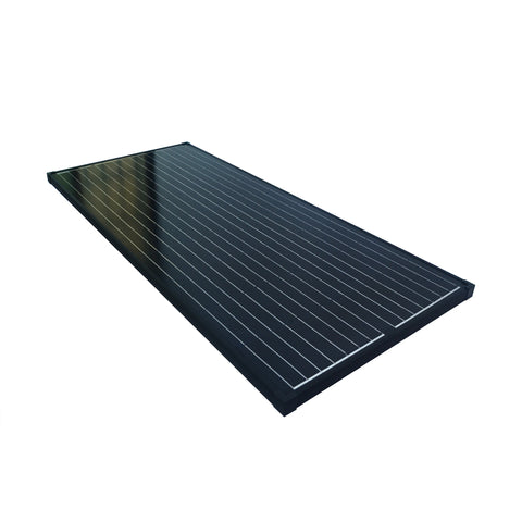 Nature Power 165 Watt Monocrystalline Solar Panel for 12 Volt Systems laying flat angled