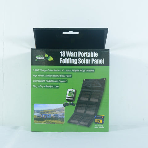 Nature Power 18 Watt Foldable Solar Panel in box
