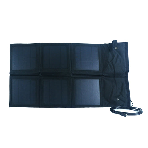 Nature Power 18 Watt Foldable Solar Panel open and unfolded