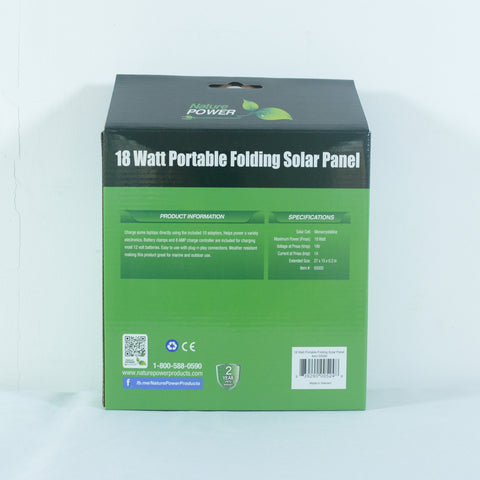 Nature Power 18 Watt Foldable Solar Panel specs