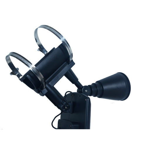 Nature Power 4-LED Solar Flag Pole Light Heavy Duty Clamps