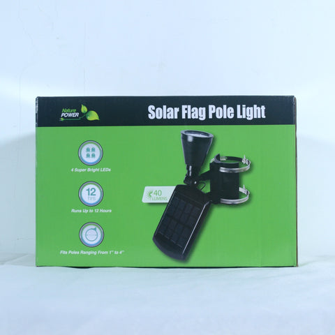 Nature Power 4-LED Solar Flag Pole Light Packaging Front