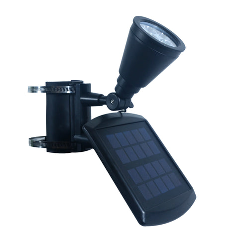 Nature Power 4-LED Solar Flag Pole Light Side Angle View