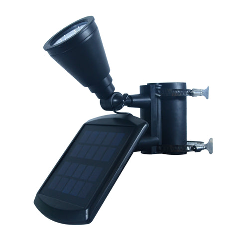 Nature Power 4-LED Solar Flag Pole Light Side Angled View