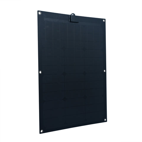 Nature Power 50-Watt Semi Flex Mono crystalline Solar Panel front left angle